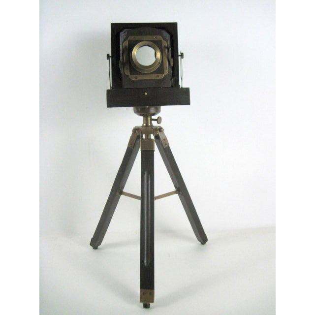Brass And Wood Tripod Replica 1800's Box Camera - Image 3 of 9