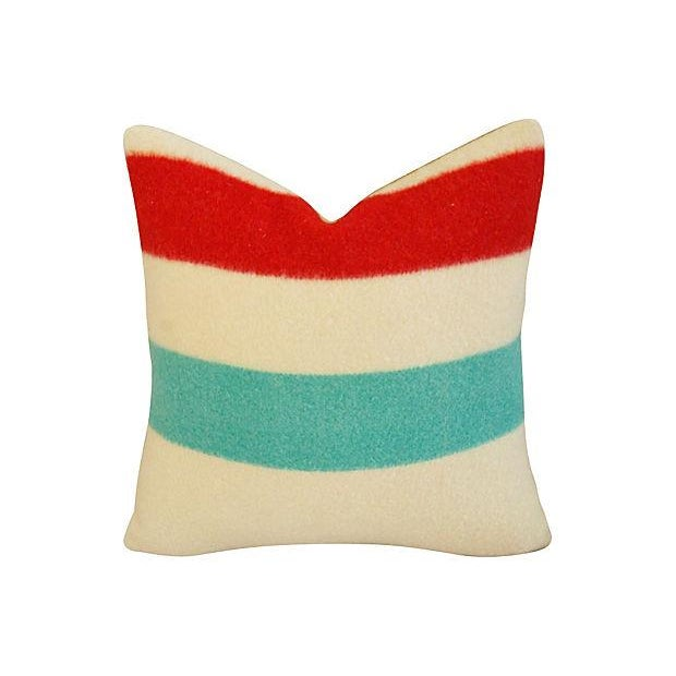 Authentic Hudson's Bay Blanket Pillows - a Pair - Image 4 of 7