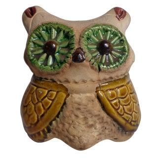 Midcentury Pottery Owl
