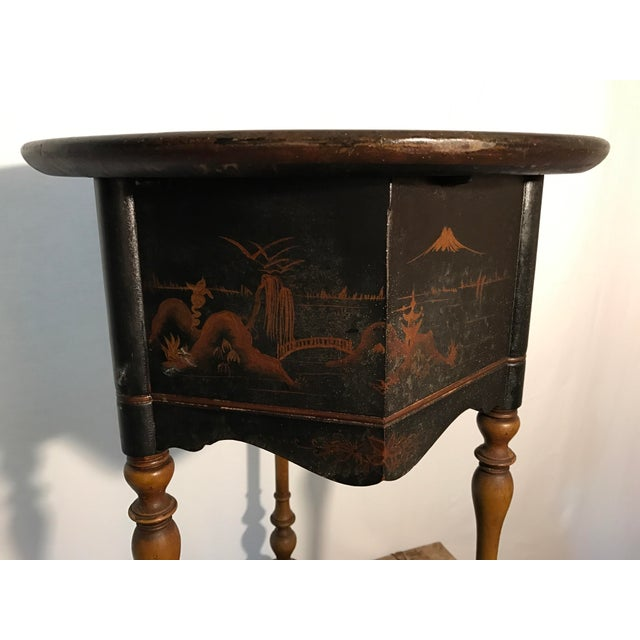Image of Vintage Hand Painted Asian Smoking Stand