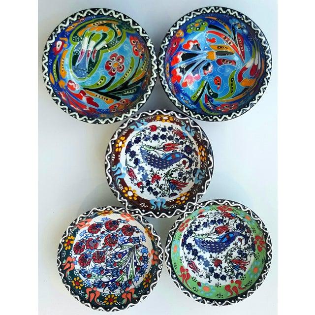 Handmade Turkish Tile Bowls - Set of 5 - Image 2 of 4