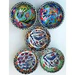 Image of Handmade Turkish Tile Bowls - Set of 5