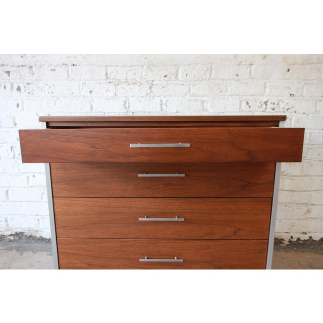 Paul McCobb for Calvin Four-Drawer Chest of Drawers with Glass Front Hutch - Image 10 of 11