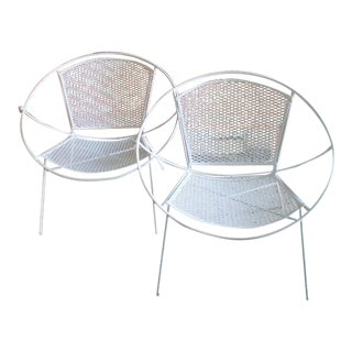 Salterini Hoop Patio Chairs - A Pair