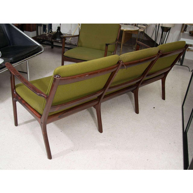 Image of Ole Wanscher Rosewood Sofa and Chair Set