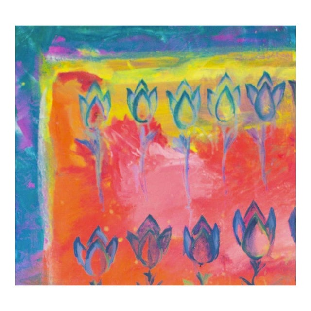 Image of Oil on Canvas Painting - Tulip Study