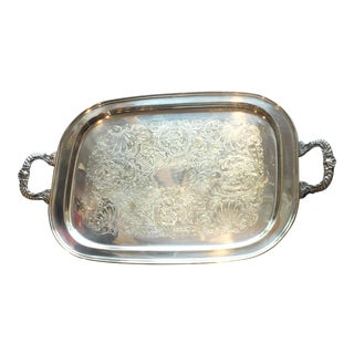 Sheridan Two Handled Rectangular Silver Plated Tray