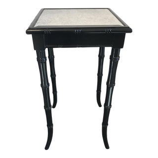 Black Bamboo Mirrored Occasional Table
