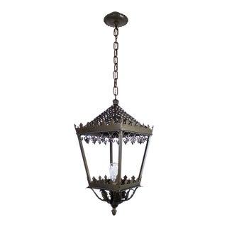 Gothic Style Single Bulb Brass Lantern