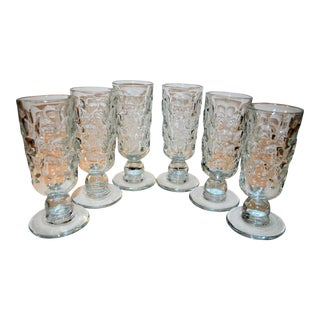 Portieux Vallerysthal Hand Blown Goblets - Set of 6