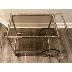 Image of European Bar Cart With Bamboo Accents