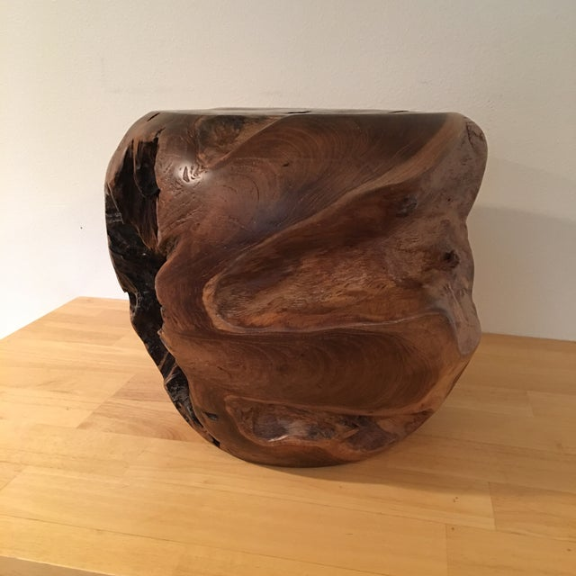 Teak Root Wood Accent Side Table Base - Image 6 of 6