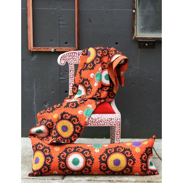 Orange Suzani Kantha Pillow - Image 3 of 3