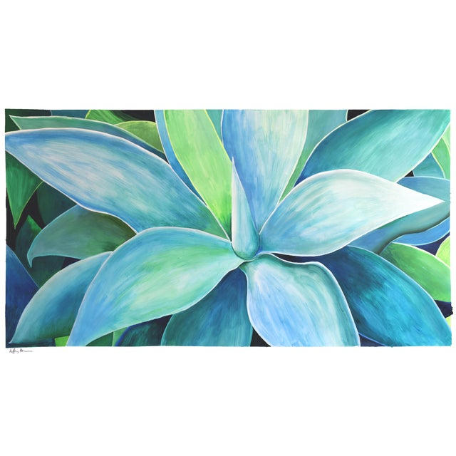 """Agave Number Five"" Acrylic Painting - Image 1 of 9"