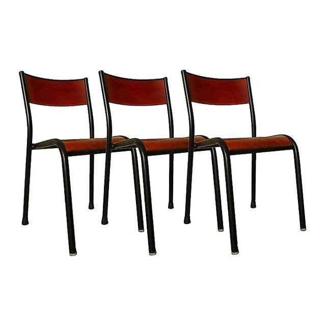 French school chairs by cavaillon set of 3 chairish for Chaise mullca 510