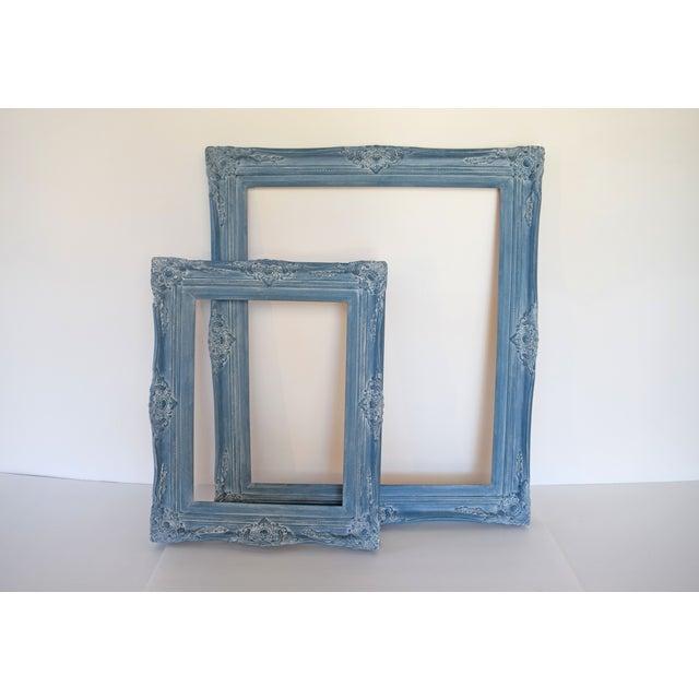 Blue Vintage Picture Frames - A Pair - Image 2 of 9