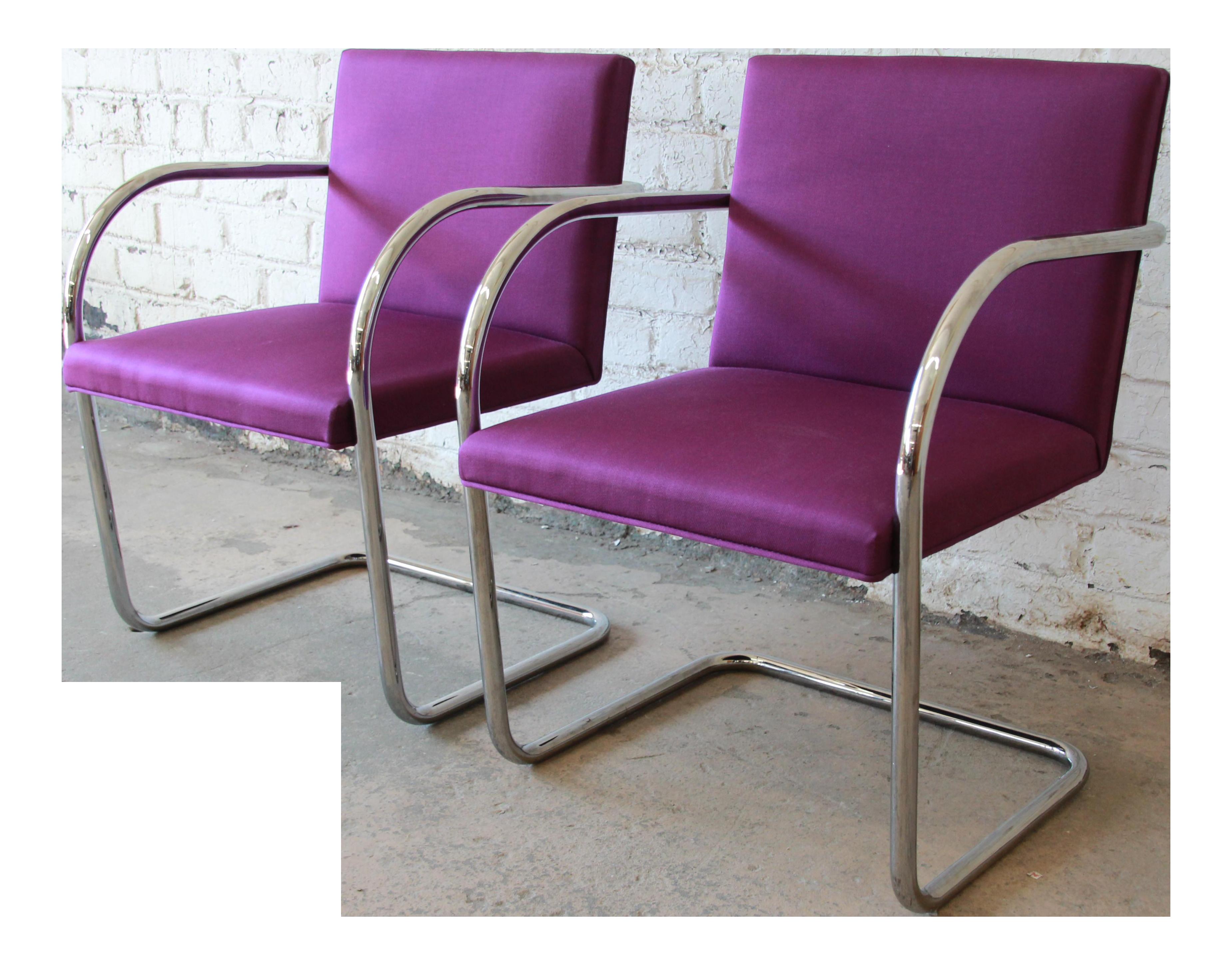 Mies Brno Chair mies van der rohe for knoll international brno chairs - a pair