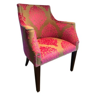 Upholstered Brocade Chair