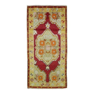 Vintage Turkish Oushak Rug- 2'6'' x 5'