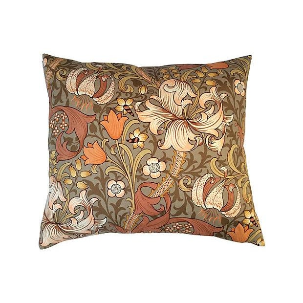 William Morris English Golden Lily Textile Pillow - Image 1 of 4