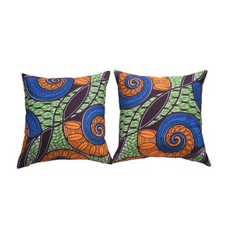 African Wax Accent Pillow Covers- A Pair