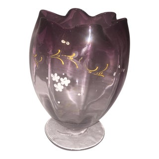 Purple Top Art Floral Vase