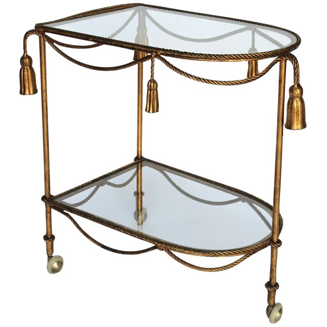 Image of Rope & Tassel Bar Cart