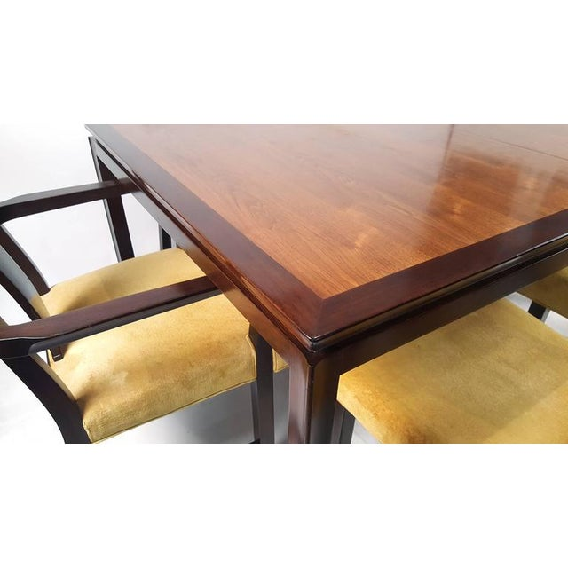 Edward Wormley for Dunbar Formal Dining Table and Chairs - Image 4 of 10