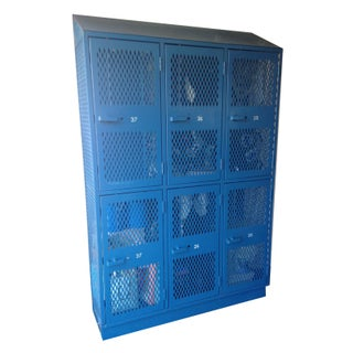 Large Blue Metal Storage Locker