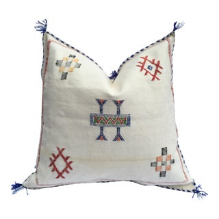 Vintage White Cactus Silk Pillow Cover