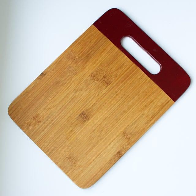 Maroon Bamboo Cutting Board - Image 2 of 3