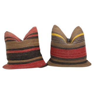 Turkish Kilim Throw Pillows - A Pair