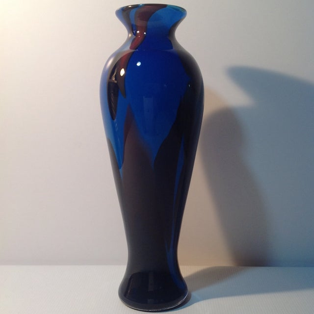 Image of Mike Wallace Blue Glass Vase