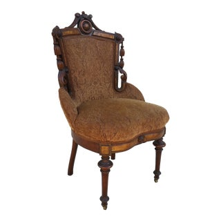 Antique Victorian Parlor / Side Chair, Circa 1890
