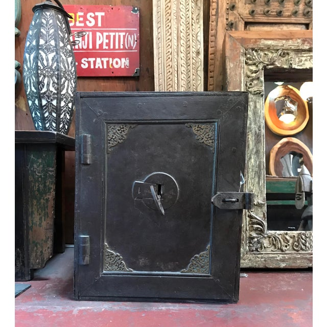 Antique Iron Safe From India - Image 3 of 5