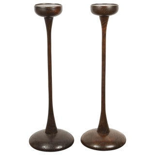Pair of Central Java Teak Stands