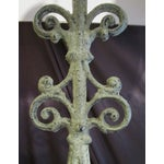 Image of Green Cast Iron Table Lamps - A Pair