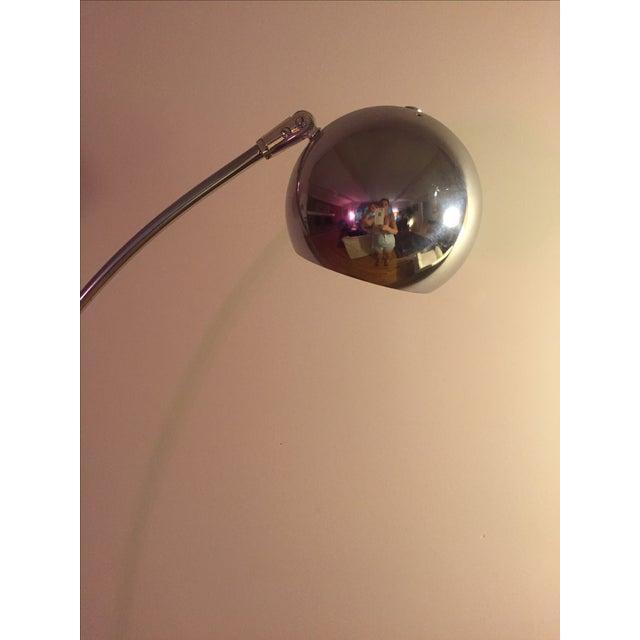 Image of Vintage Mid-Century Chrome Eyeball Arc Floor Lamp