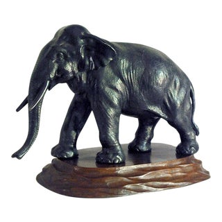 Cast Metal Elephant Figure