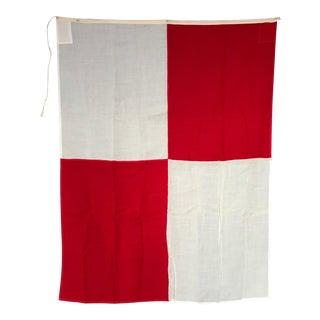 """Vintage """"U"""" Nautical Flag"""
