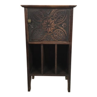 C.1900 Carved English Oak Magazine Stand