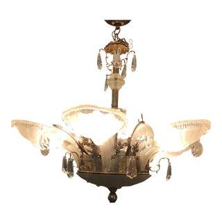 French Art Deco Chandelier by Ezan