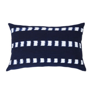 Guatemalan Striped Indigo Handwoven Pillow
