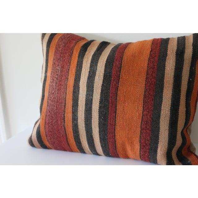 Vintage Boho Turkish Kilim Pillow - Image 4 of 4
