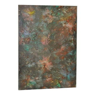 Original Abstract Cosmos Oil Painting