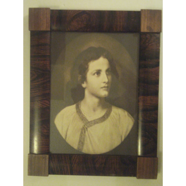 1910 Antique Rosewood Frame with Print - Image 2 of 8