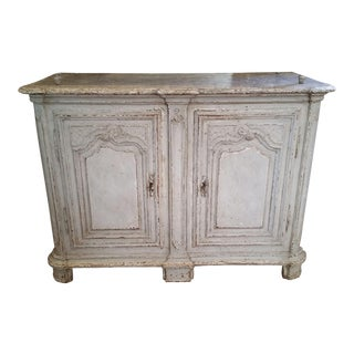 18th Century Louis XIV painted Buffet with faux marble top