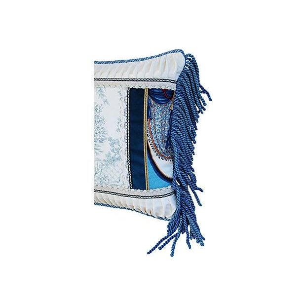 Designer Kravet Blue & White Chinoiserie Pillow - Image 3 of 5