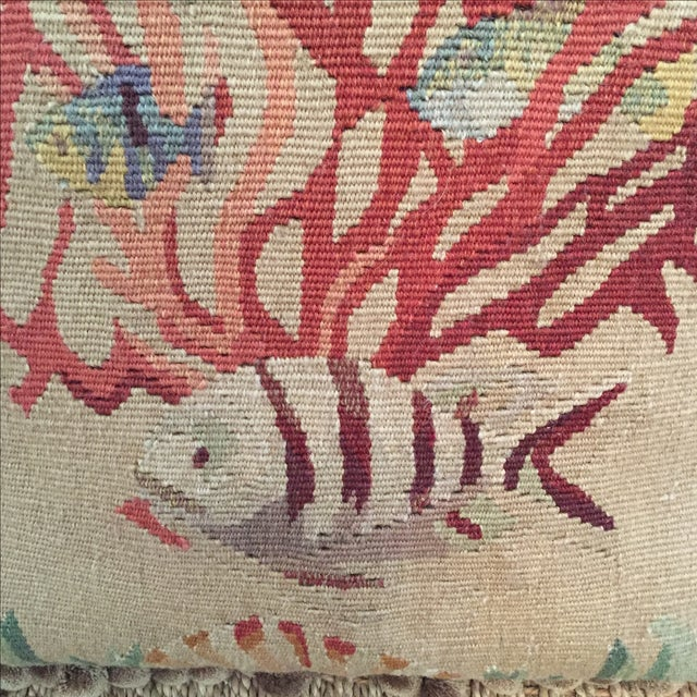 Coral & Fish Tapestry Pillow - Image 3 of 6