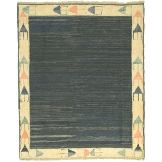 Modern Hand Knotted Gabbeh Rug - 4'9 X 5'9